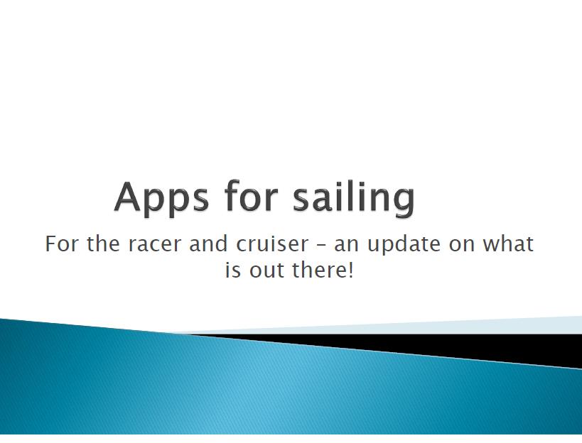 Apps & Instrumentation Talk - Royal Cape Yacht Club