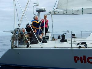 Governor trying yachting