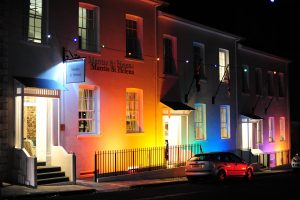 Mantis St Helena - Hotel Exterior during Festival of Lights - Ed Thorpe