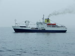 RMS St Helena stands by