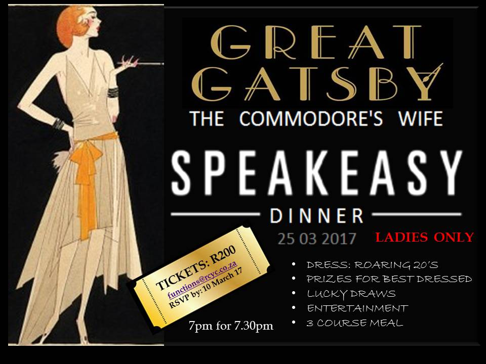The Great Gatsby Commodore's Wife's Dinner  – 25 March 2017