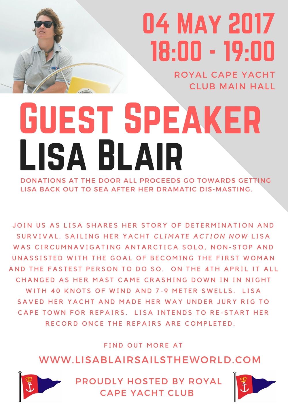 Guest Speaker: Lisa Blair