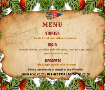 HEAR YE! HEAR YE! Christmas In July Menu
