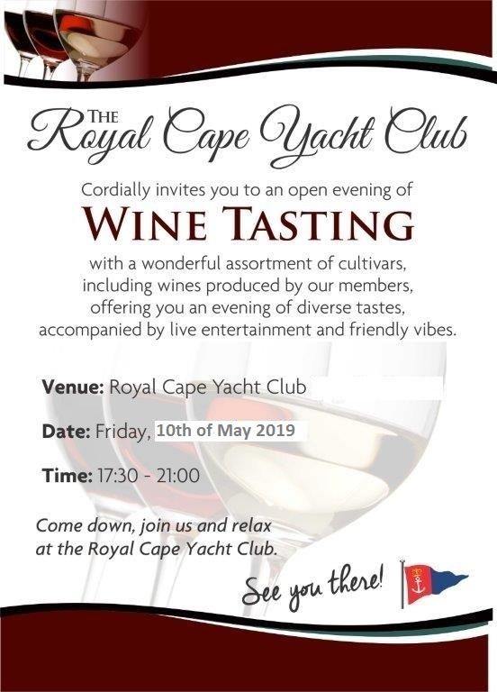 The RCYC Wine Tasting Evening