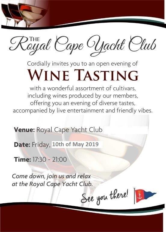 The RCYC Wine Tasting Evening