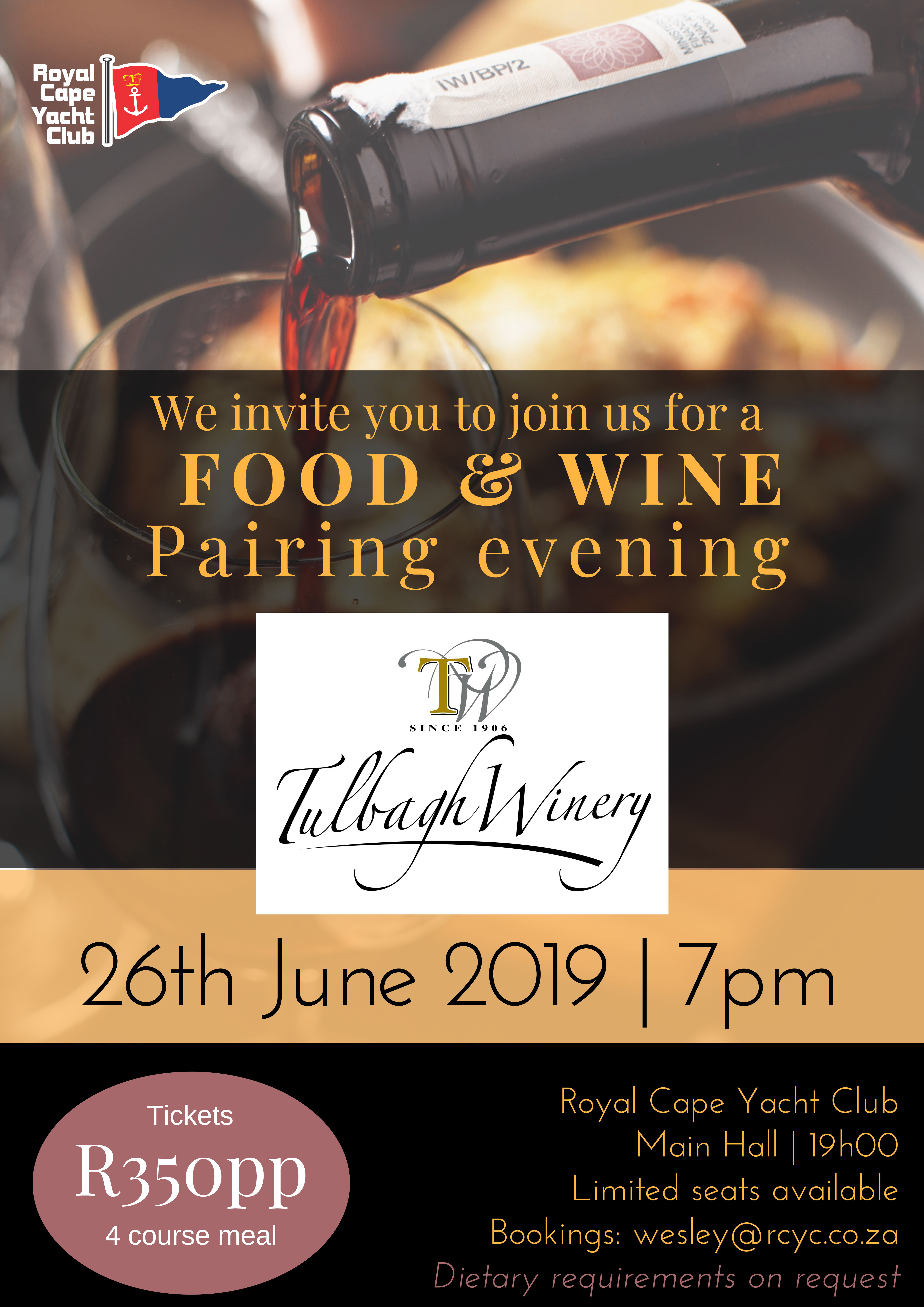 Food & Wine Pairing  – Tulbagh Winery