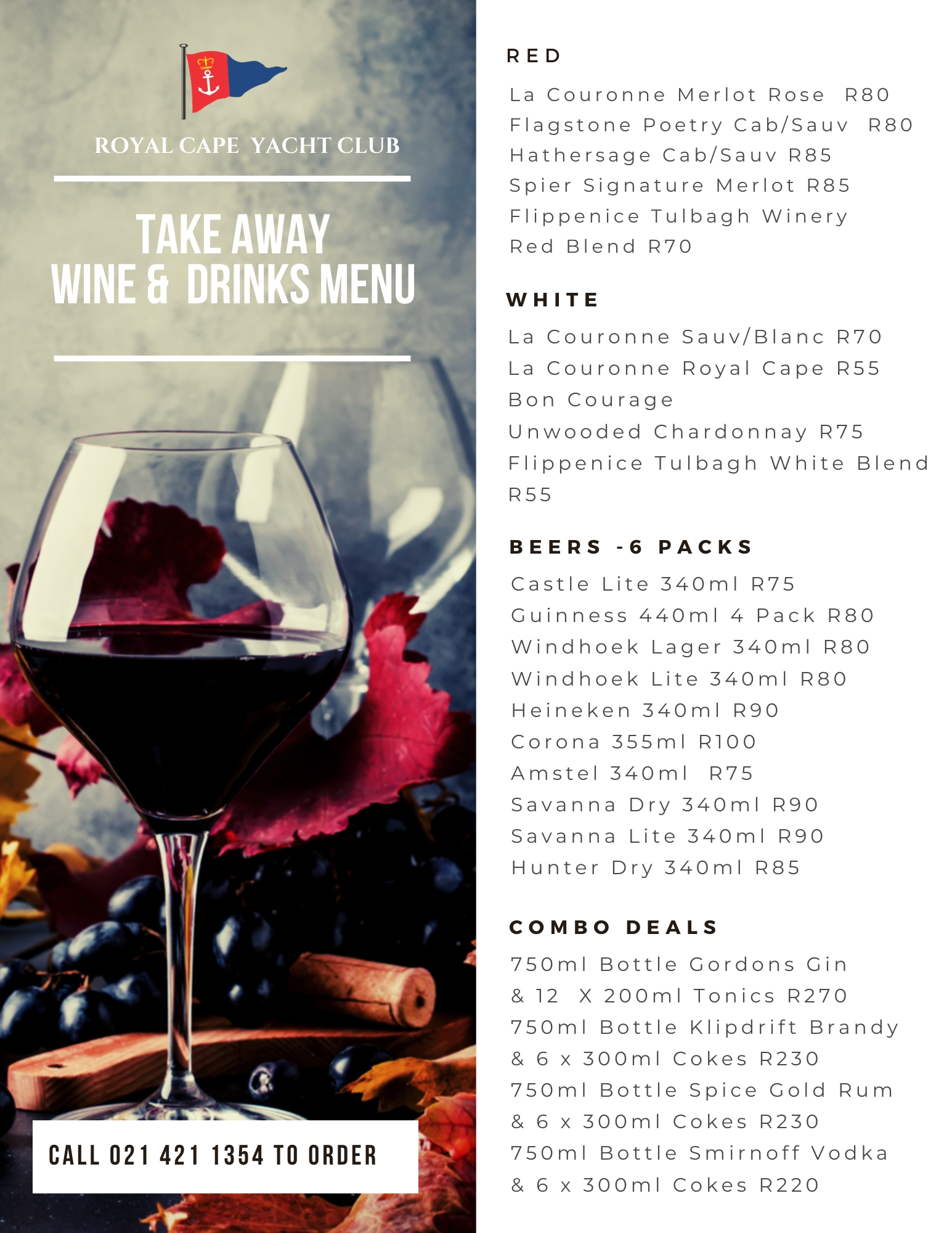 Food Wine Take-Aways Now Available!
