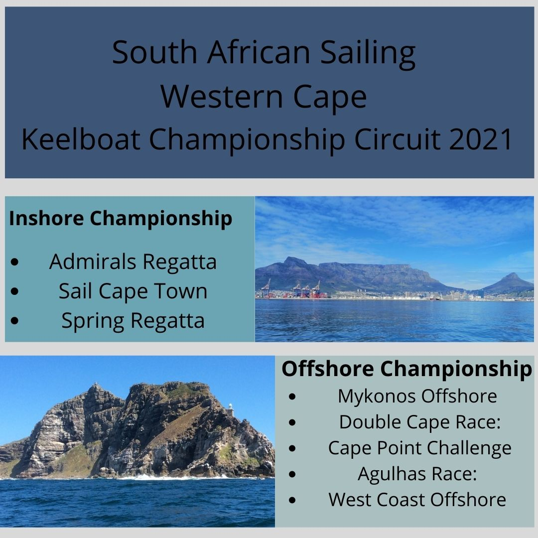 South African Sailing Western Cape – Keelboat Championship Circuit 2021